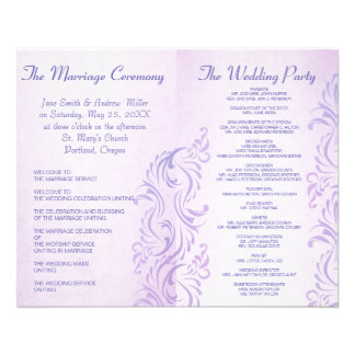 Programmes grunges pourpres de mariage tract