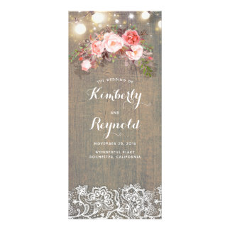 Programmes rustiques floraux de mariage de