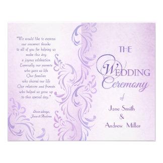 Programmes sales pourpres de mariage prospectus en couleur