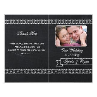 programmes se pliants de mariage de photo de prospectus 21,6 cm x 24,94 cm