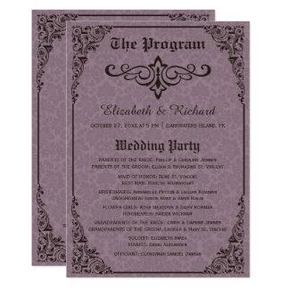 Programmes victoriens gothiques de mariage damassé
