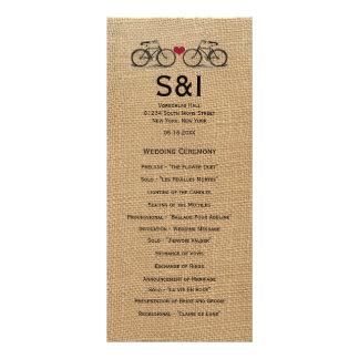 Programmes vintages de mariage de bicyclette