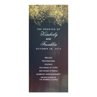 Programmes vintages floraux de mariage du souffle carte double en  couleur