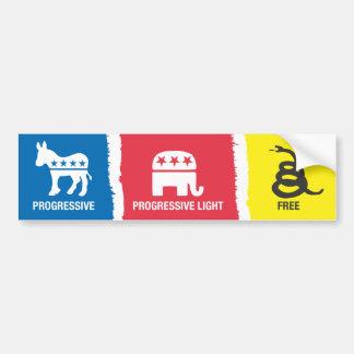 Progressif, Progressif-Lumière, libre Autocollant Pour Voiture
