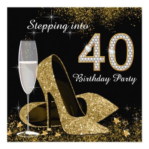 Progression dans la fête d'anniversaire 40 bristols personnalisés