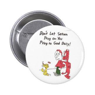 proie satan - énonciations drôles d'église pin's avec agrafe