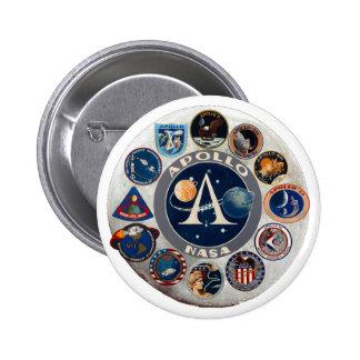 Projet Apollo Le logo composé Badges Avec Agrafe