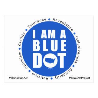 Projet bleu Etats-Unis de point Cartes Postales