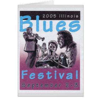 Projet d'affiche de concert de 2005 bleus carte de vœux