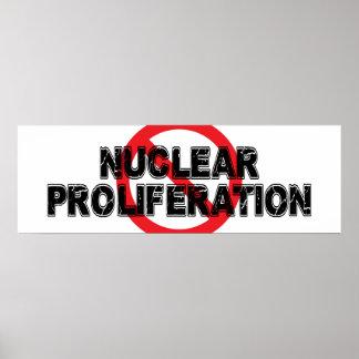 Prolifération nucléaire d'interdiction posters