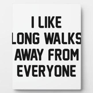 Promenade à partir de chacun impression sur plaque