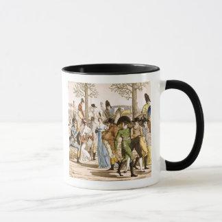 Promenade chez Longchamps, 1802 (gravure) Mug