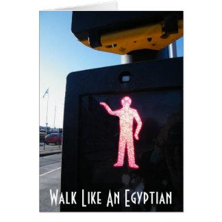 Promenade comme une carte égyptienne