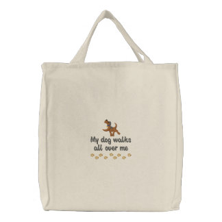 Promenade de chien sacs brodés