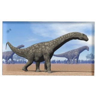 Promenade de dinosaures d'Argentinosaurus - 3D Porte-cartes De Table