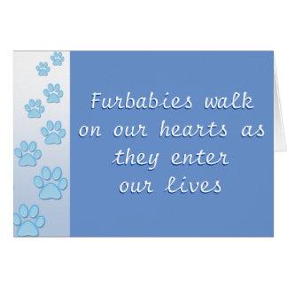 Promenade de Furbabies sur nos coeurs - carte
