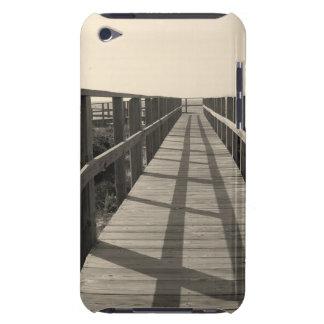 Promenade de plage dans la sépia coques iPod touch