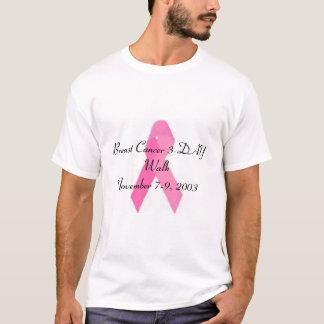 Promenade de trois jours de cancer du sein t-shirt