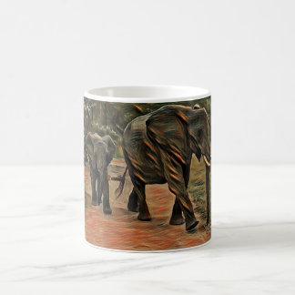 Promenade d'éléphant mug