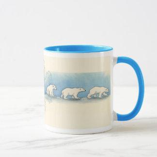 Promenade d'ours blanc mug
