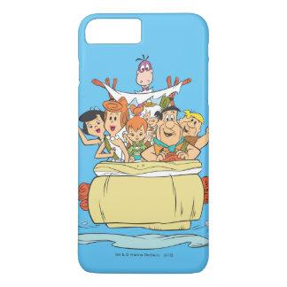 Promenade en voiture de famille de Flintstones Coque iPhone 7 Plus