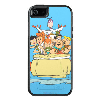 Promenade en voiture de famille de Flintstones Coque OtterBox iPhone 5, 5s Et SE