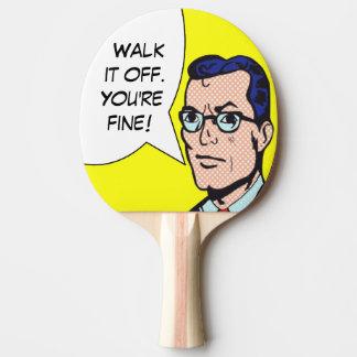 Promenade il outre de la palette de ping-pong de raquette de ping pong