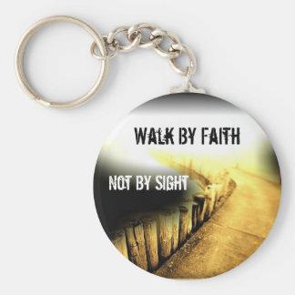 Promenade par la foi porte-clés