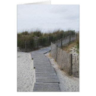 Promenade pour échouer le New Jersey d'Atlantic Carte De Vœux