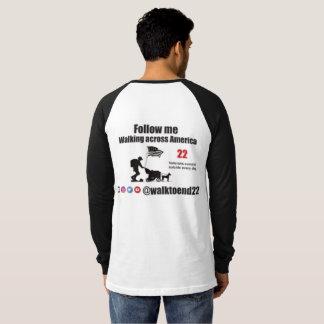 Promenade pour finir la chemise de 22 raglans t-shirt