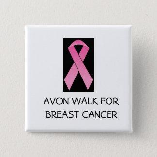 promenade rose de ruban pour le cancer du sein badge