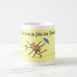 Promenades d'araignée de tarentule la corde serrée mug