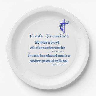 Promesses de dieux assiettes en papier