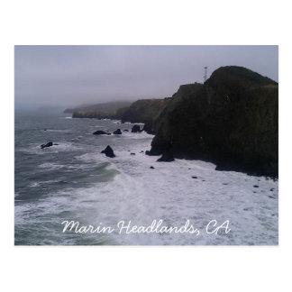 Promontoires de Marin, carte postale de CA