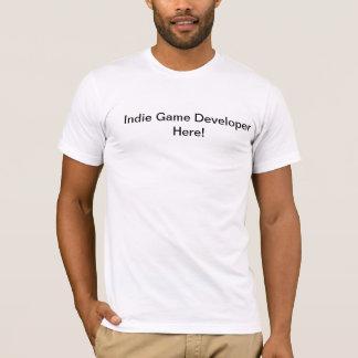 Promoteur indépendant de jeu ici t-shirt