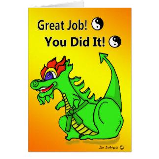 Promotion à la carte de dragon de ceinture verte