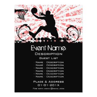 Promotion d'événement de basket-ball prospectus 21,6 cm x 24,94 cm