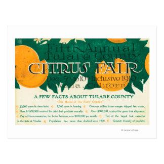 Promotion juste de cinquième agrume annuel de carte postale