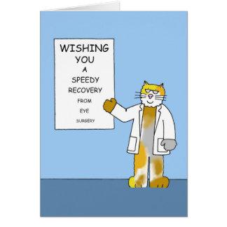 Prompt rétablissement de chirurgie d'oeil carte de vœux