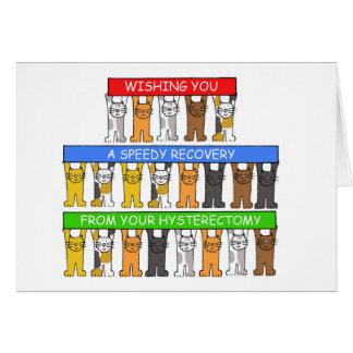 Prompt rétablissement de votre hystérectomie carte de vœux