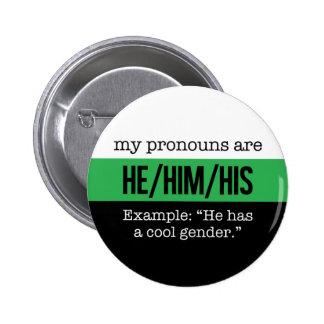 Pronoms de He/Him - drapeau de Neutrois Pin's