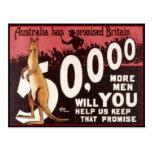 PROPAGANDE 1914 de l'AUSTRALIE de carte des collec Carte Postale
