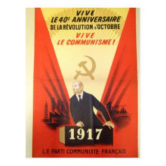 Propagande communiste vintage française carte postale