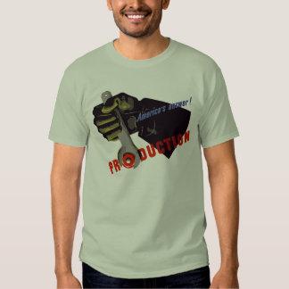Propagande de production de la réponse de t-shirt