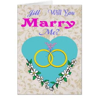 Proposition de carte de Valentine de mariage
