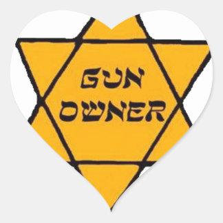 Propriétaire d'arme à feu sticker cœur