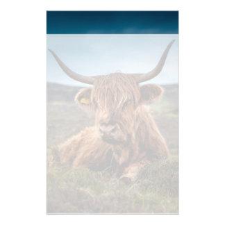 Propriétaire d'un ranch des montagnes écossais de  motifs pour papier à lettre