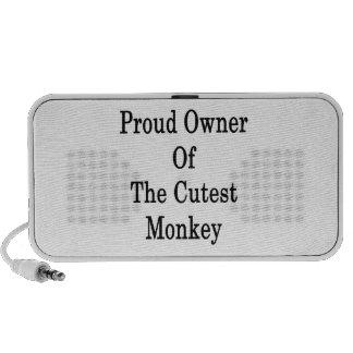Propriétaire fier du singe de Cutes Système De Haut-parleurs