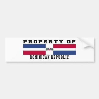 Propriété de la République Dominicaine Autocollant Pour Voiture