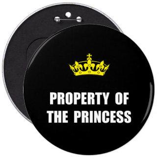 Propriété de princesse badge